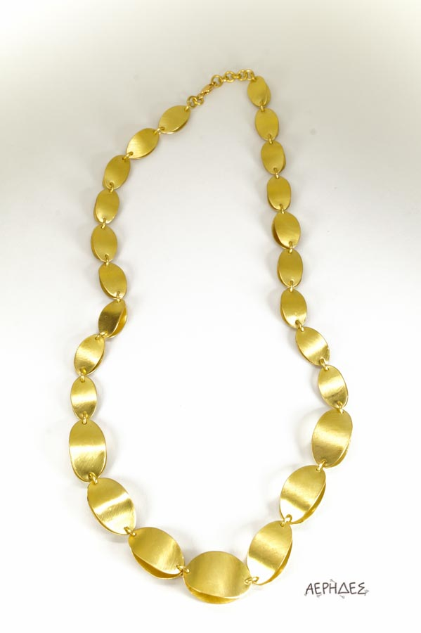 handmade brass necklace with a pearl